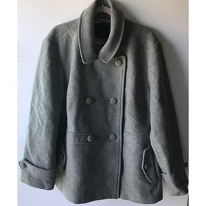 NWT Talbots | Gray Double Breasted Wool Blend Coat